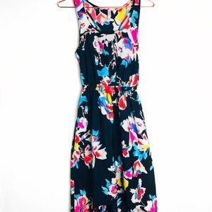 EUC Xhilaration Floral Maxi High Low Dress XS